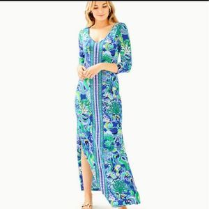 Lilly Pulitzer Anissa Blue Grotto Maxi Dress
